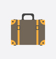 suitcase flat on white background case for vector image vector image