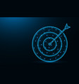 target poly design arrow and aim abstract vector image vector image