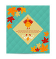 thanksgiving autumn fall background with pumpkin vector image vector image