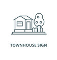 townhouse sign line icon linear concept vector image