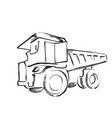 tractor sketch black and white vector image vector image