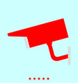 video surveillance set it is color icon vector image