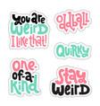 weird and beautiful sticker set design template vector image