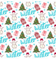 winter holiday pattern cute new year seamless vector image vector image