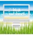 workplace ocean beach vector image vector image