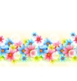 Seamless Floral Border vector image