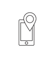 Location icon outline contour vector image