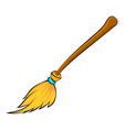 halloween broomstick symbol icon design vector image