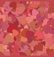 abstract seamless random heart background pattern vector image vector image