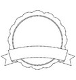 badge emblem banner ribbon empty vector image vector image