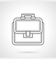 bag of lawyer flat line icon vector image vector image