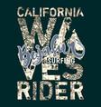 baja sur california surf wave rider vector image