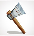 battle axe steel vector image vector image