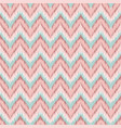 boho zig zag strip pink seamless pattern vector image