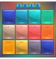 Calendar 2016 Sunday first 12 months vector image