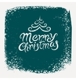 Calligraphic vintage Christmas card design vector image