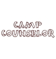 Camp counselor -on alpha background vector image vector image