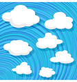 Cartoon style clouds vector | Price: 1 Credit (USD $1)