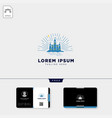 castle logo template and free business card vector image