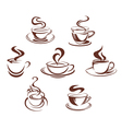 Coffee and tea cups vector | Price: 1 Credit (USD $1)