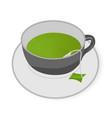 cup of green tea vector image