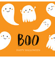 cute halloween invitation or greeting card vector image vector image