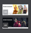 design social banners for sports jogging gym vector image vector image