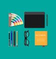 drawing tools isolated equipment for designer vector image vector image