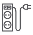 electric extension line icon energy and plug vector image