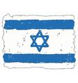 Flag of Israel handmade vector image