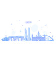glasgow skyline scotland uk city buildings vector image