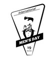 global men day icon simple style vector image