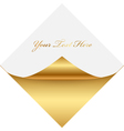 gold gold square memo vector image vector image
