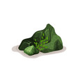 green mineral rock stone design element of vector image