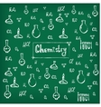 Hand drawn chemical background vector image vector image