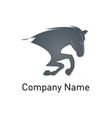 horse company logo vector image