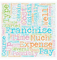 How Much Does A Franchise Cost text background vector image vector image