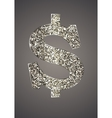 Jewelry in the form of dollars on dark background vector image vector image
