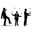 jugglers in suits vector image vector image