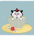 kitten mug with candy vector image vector image