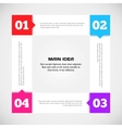 Modern arrow number options banner vector image