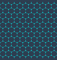 molecular structure seamless pattern background vector image vector image