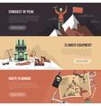 Mountaineering Design Banner vector image vector image