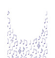 music notes background poster template melody vector image