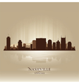 Nashville tennessee skyline city silhouette vector | Price: 1 Credit (USD $1)