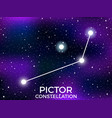 pictor constellation starry night sky cluster of vector image vector image
