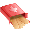 Plasters in a red box vector image vector image