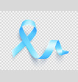 realistic blue ribbon world prostate cancer day vector image vector image