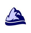 rock mountain logo icon vector image vector image