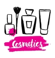 Set brush hand drawn cosmetics vector image vector image